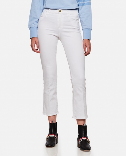White stretch cotton jeans  Women Frame 000243540036014 1