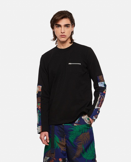 Cotton T-shirt with archive print Men Sacai 000301200044244 1