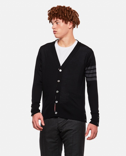 V-neck wool cardigan Men Thom Browne 000080800029470 1