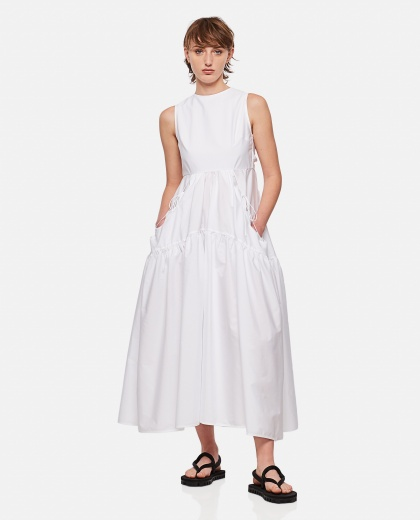 Sleeveless midi dress with cut-out detail Women Cecilie Bahnsen 000304450044669 1