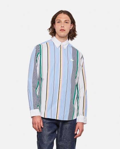 Camicia relaxed fit in cotone a righe Lacoste Live Uomo Lacoste 000297470043768 1
