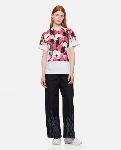T-shirt with eyes print Women Comme des Garcons 000316440046356 2