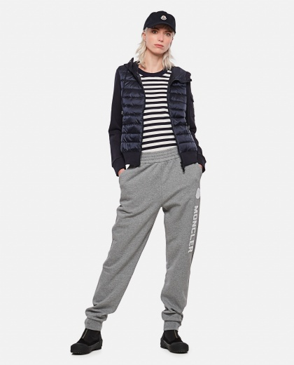 Jogging trousers with logo Women Moncler 000309150045339 2