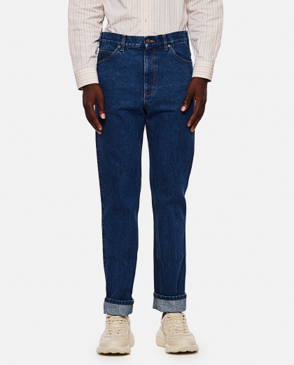 Regular jeans with marbled délavé effect Men Gucci 000267550039472 1