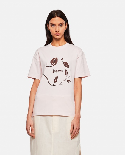 Cotton T-shirt with print Women Jacquemus 000302320044400 1