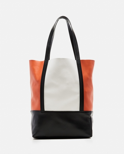 Color-Blocked Lambskin Tote Bag Women Plan C 000263430038947 1