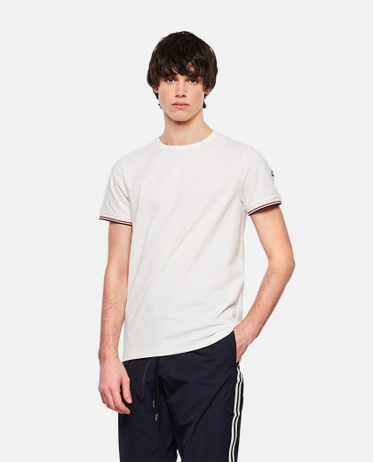 Tricolor striped T-shirt Men Moncler 000232730034340 1