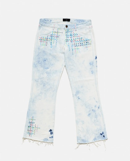Jeans with multicolor embroidery Women Alanui 000200720029876 2