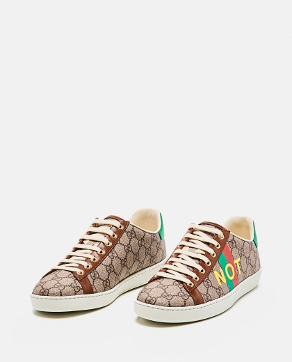 Ace sneaker with 'Fake / Not' print Women Gucci 000274010040357 2