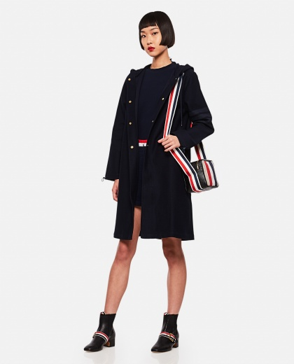 Double-face cotton twill parka Women Thom Browne 000255240037697 2