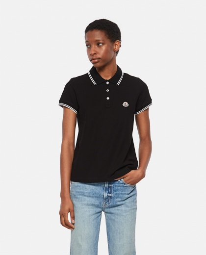 Basic polo shirt in cotton pique Women Moncler 000314920046154 1