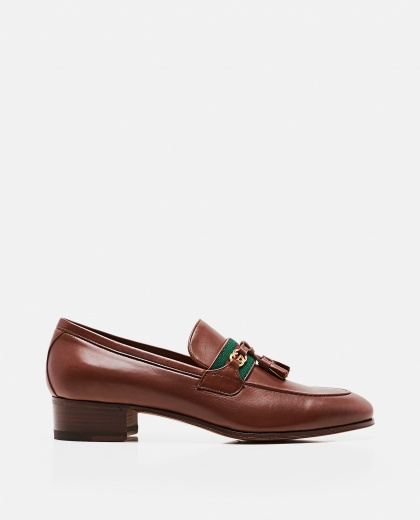 Moccasin with Web and GG ribbon Women Gucci 000259330038368 1