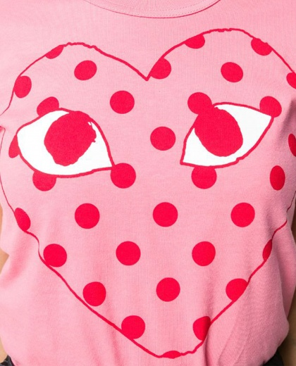 T-shirt with print Women Comme des Garcons Play 000230910034072 2
