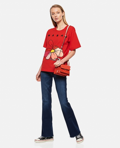 Printed cotton jersey T-shirt Donna Marni 000289660042655 2