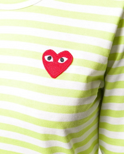 T-shirt with embroidery Women Comme des Garcons Play 000226030033429 2
