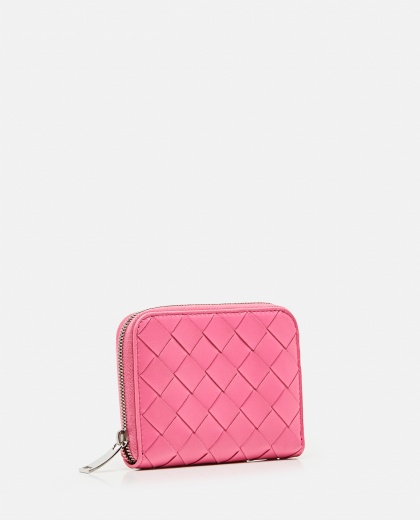 MINI WALLET WITH ZIP IN SHINY BRAIDED Women Bottega Veneta 000224250038258 2