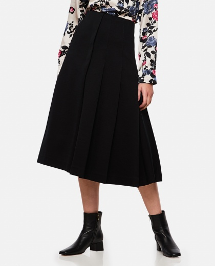 Asymmetrical pleated midi skirt Women Marni 000257320037998 1