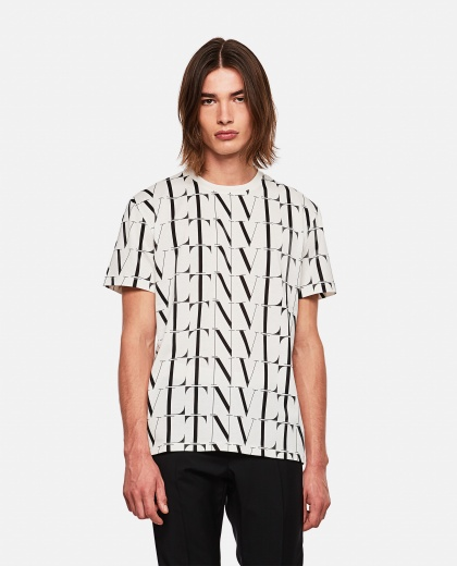 VLTN pattern T-shirt Men Valentino 000263980039009 1
