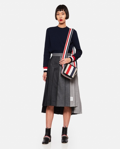 Pleated wool skirt  Women Thom Browne 000255080037672 2