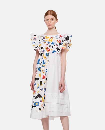 Midi dress with multicolor print Women Bethany Williams 000315280046204 1