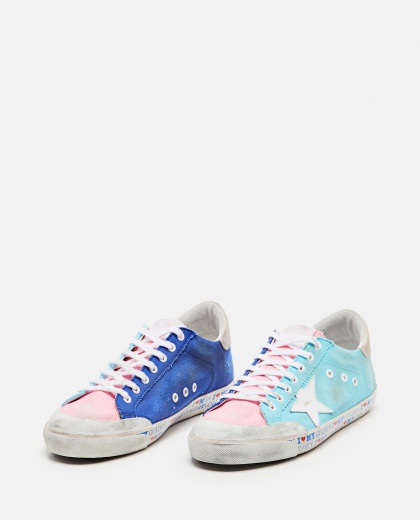 Sneakers Superstar in canvas multicolor Uomo Golden Goose 000292420043048 2