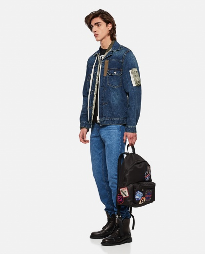 Layered denim jacket Men Sacai 000301180044241 2