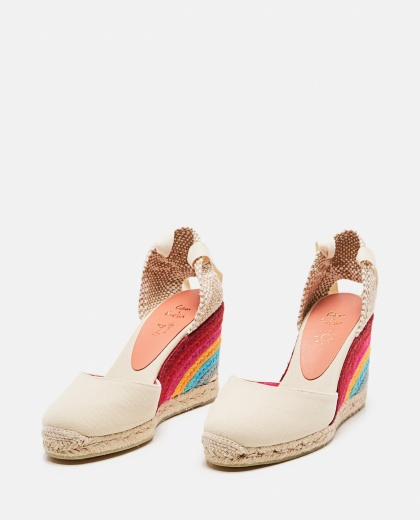 Castañer by Paul Smith. Espadrilles in tela con zeppa 9cm Donna Castaner 000286220042242 2