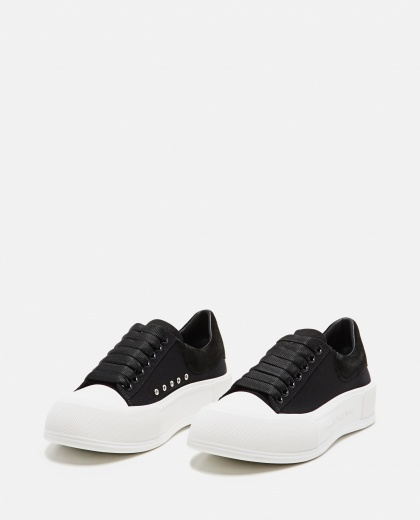 Canvas Skate Sneakers  Women Alexander McQueen 000304970044739 2