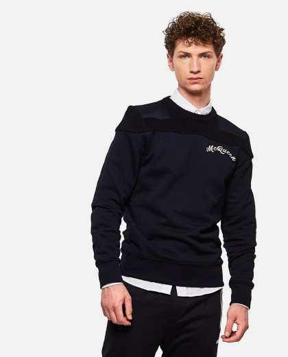 Sweatshirt With Embroidered Logo Men Alexander McQueen 000179800026767 1