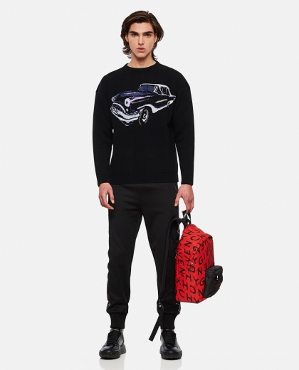 Crewneck wool jacquard pullover Men Givenchy 000301990044346 2