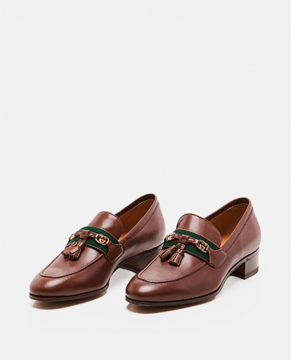 Moccasin with Web and GG ribbon Women Gucci 000259330038368 2