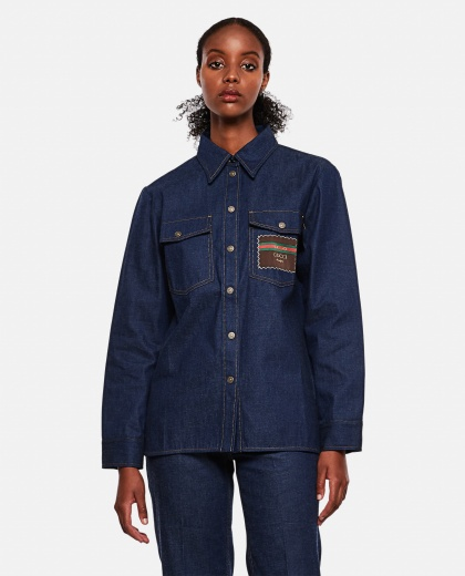 Denim shirt with Gucci Boutique label