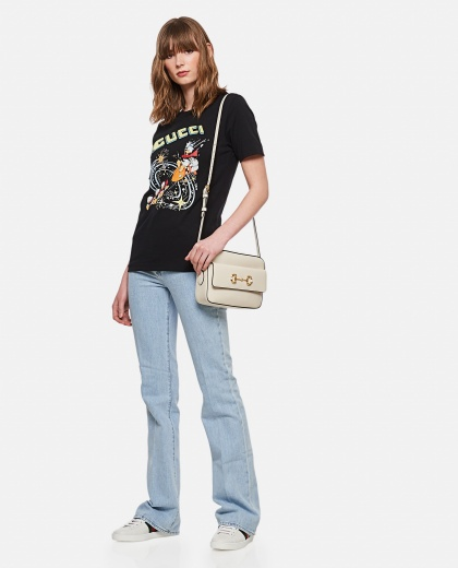 Cotton T-shirt with Gucci cherry print Women Gucci 000287230042349 2