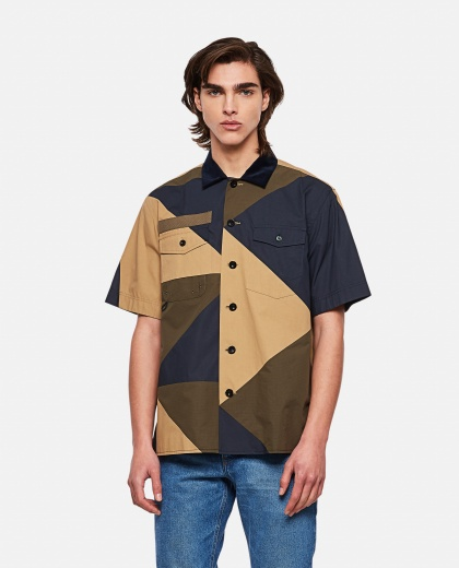 Camicia in cotone color block HANK WILLIS THOMAS x SACAI Uomo Sacai 000301110044233 1