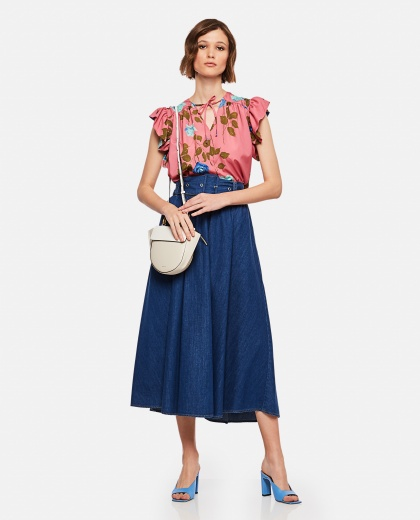 Blouse with pink print Women MSGM 000225340033344 2