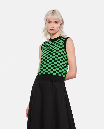 SELWYN knitted vest with check pattern Women Molly Goddard 000305140044761 1
