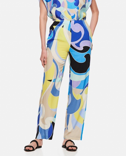 Wide leg trousers with geometric print Women Emilio Pucci 000295980043513 1