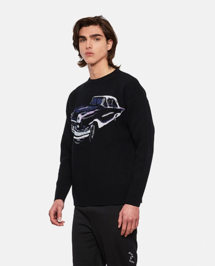 Crewneck wool jacquard pullover Men Givenchy 000301990044346 1