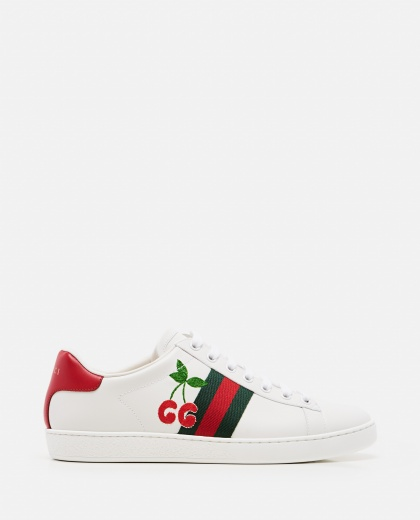 Ace sneaker with cherries Women Gucci 000287420042372 1