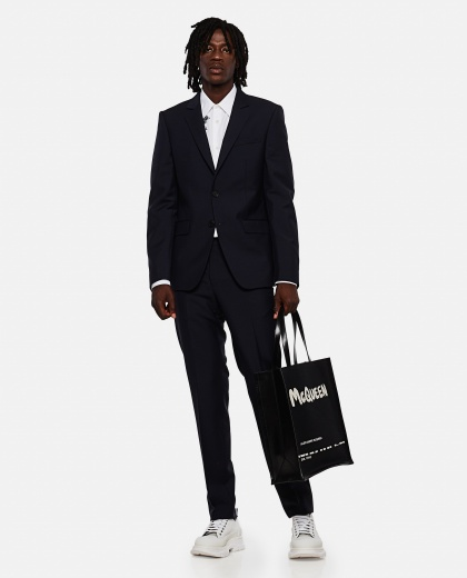 Black shopper bag Men Alexander McQueen 000266530039332 2