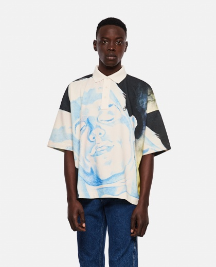 Polo with face print Men J.W. Anderson 000293110043170 1