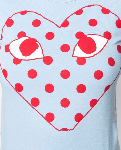 T-shirt with print Women Comme des Garcons Play 000230910034070 2