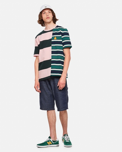 Asymmetrical Striped T-Shirt Men Lanvin 000309340045377 2