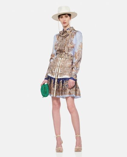 Shirt dress with paisley print Women Zimmermann 000307210045019 2