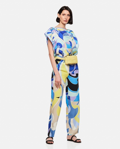 Wide leg trousers with geometric print Women Emilio Pucci 000295980043513 2