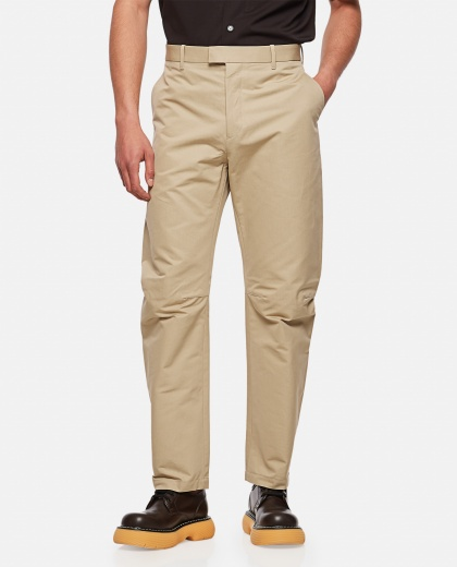 Beige baggy trousers Men Bottega Veneta 000291640042949 1