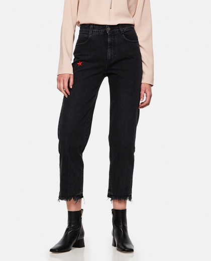Jeans with star embroidery Women Stella McCartney 000102610015643 1
