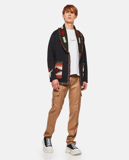 Jacquard cardigan with Christmas logo Men Alanui 000295310043426 2