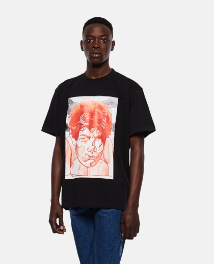 OVERSIZE T-SHIRT WITH PRINT Men J.W. Anderson 000293160043179 1