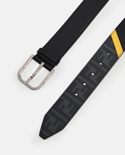 Belt with leather details Men Fendi 000266910045535 2